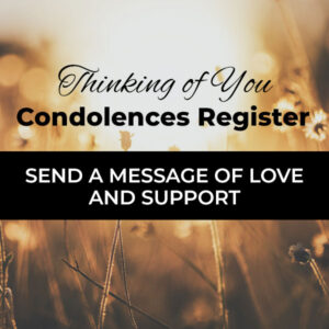 Thinking of You Condolences Register